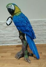More details for macaw parrot - blue & yellow parrot life size statue figurine ornament bird