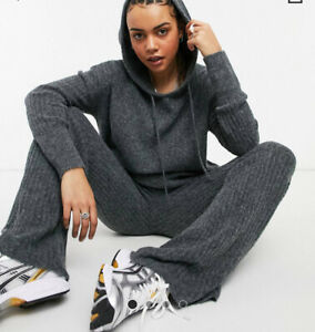 Noisy May -Hoodie - Grey Oversize XS- Loose Fit-NEW- RRP £38