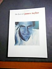* The Best of James Taylor- Songbook new Piano vocal chords