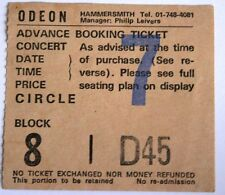 DIO + Queensryche Used Concert Ticket Stub Vtg 1984 HAMMERMITH ODEON London