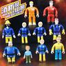 New 6.5cm Fireman Sam 10Pcs Figure Toy Elvis Steele Norman Tom PVC Doll Kid Gift