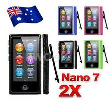 AU For Apple iPod nano 7 Gen 7G 7th TPU Soft Gel Cover Case Belt Clip Sport 2x