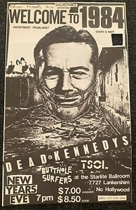 Dead Kennedys Vintage Punk Flyer, 1983, Welcome To 1984 NYE w/Butthole Surfers!