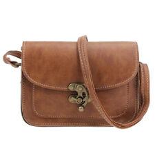 Vintage Women Leather Small Handbag Satchel Messenger Cross Body Shoulder Bag