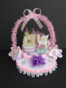 Birthday girl unicorn cake topper centerpiece party favor decoration
