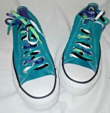 CONVERSE ALL STAR TURQUOISE SNEAKERS MULTI LACES SIZE  9