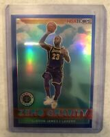 2019-20 Hoops Premium Stock BLUE PRIZM SP LeBron James Zero Gravity #18 Lakers