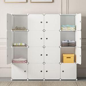 UK DIY 16 Cube Closet Wardrobe Modular Storage Organizer Clothes Kids Furniture