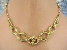 Diamante Gold Vintage Costume Jewellery (1970s)