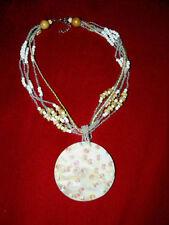 Markenlose Modeschmuck-Halsketten & -Anhänger aus Holz mit Perlen