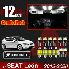 12pcs Interior Dome LED Light Mirror Lights Package For SEAT Leon 5F MK3 Vanity