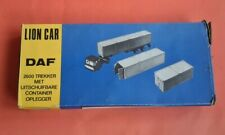 Lion Car DAF 2600 with Extendable Container Trailer & Containers, rare, 1:50