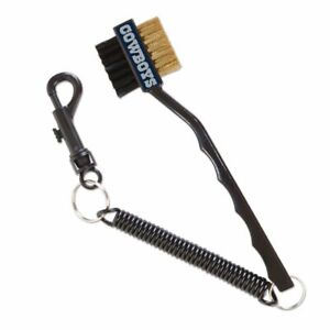 NFL DALLAS COWBOYS GOLF BRUSH WITH CLIP AND ELASTIC CORD NEW