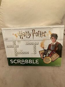 Scrabble Harry Potter Edition Board Game With Magical Hogwarts Cards by Mattel