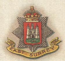 Vintage tobacco cigarette silk - G.P. Territorial Badges No. 65 East Surrey Regt