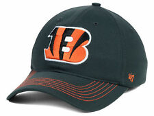 Cincinnati Bengals NFL Game Time 47 Brand Closer Charcoal flex fit hat cap L/XL