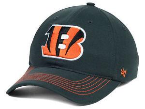 Cincinnati Bengals NFL flex fit hat Game Time 47 Brand Closer Charcoal cap L/XL