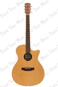 Ashbury AG-30 Electro-Acoustic Guitar Spruce Top Fishman Pick Up Cutaway