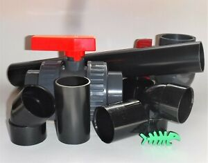 """36 mm True Size (known as1.25"""") Black Solvent Weld WASTE Fittings, fits 36 mm"""