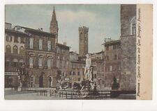 Florence Signoria Square & Gian Bolognas Fountain Italy Vintage Postcard 243b