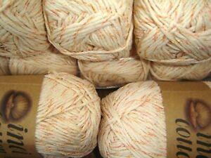 job lot of  100%   cotton double knitting yarn cream multi  10 x 100g
