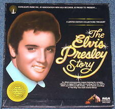 1977 ELVIS PRESLEY STORY 5 Record Set LIMITED EDITION CANDLELITE RCA 60 Songs