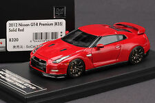 1 of 60 - Left Hand Drive - Nissan R35 GT-R  **Solid Red** -- HPI 1/43 #8320