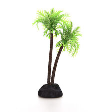 1x Plastic Aquarium Coconut Trees Fish Tank Plants Decoration BH