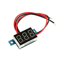 5x(LED Mini Digital Voltmeter Spannungsanzeige Panelmeter DC 3-30V GY