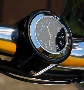 New British Made Darkside Smooth Bar Clock, Harley, Bike, Motorcycle