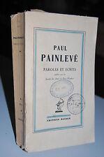 PAROLES ET ECRITS de  PAINLEVE PAUL 1937