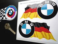 BMW  roundel + wavy German colour flag 125mm stickers M3 M5 M sport CSL K GS 57d