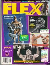 FLEX Bodybuilding Muscle Fitness Mag BARE BUTT Latia Del Riviero poster 9-94