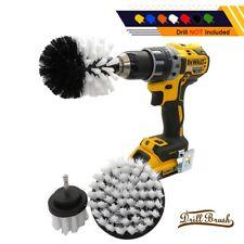 1Pc White Car Wheel Tire Rim Scrub Cleaning Brush Drill Kit Washing Tool Cleaner