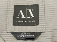 Armani Exchange Mens Snap Button Front Shirt Long Sleeve Gray