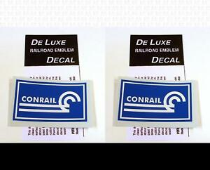 DeLuxe By Virnex Decals Blue and White Conrail Herald D-153 -Two Decals-