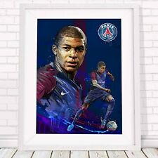 KYLIAN MBAPPE - PSG Soccer Poster Picture Print Sizes A5 to A0 *FREE DELIVERY**