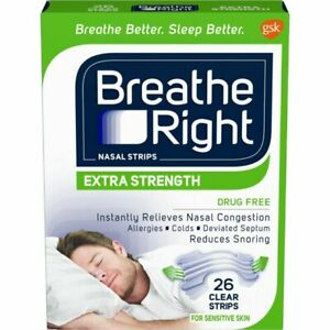 Breathe Right Extra Strength Clear Sensitive Nasal Strips - 26 Count
