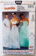 Burda Pattern 8320  Ms Strapless Wedding Dress & Bolero Jacket w/Bell Sleeves