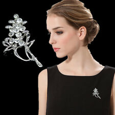 Bouquet Rhinestone Brooch Pin Bridal Dress Breastpin Charm Jewelry Wedding Party