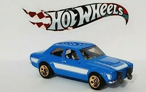 FAST & FURIOUS '70 FORD ESCORT RS1600 BLUE HOT WHEELS DIECAST SCALE 1/64 NEW