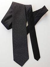 Innovative reversible silk tie black silver Metallic stripes polka dots glittery