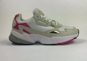Adidas Originals Falcon Shoes Women's New White/Pink