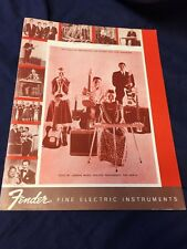 Fender Fine Electric Instruments 1960 Catalog Vintage Reprint