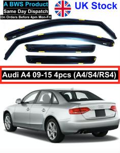 BWS Premium Quality wind deflectors 4pcs Audi A4 B8 4doors saloon 09-15 UK Stock