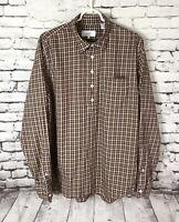 JACK SPADE Bleecker Street New York Button Down Shirt Plaid Men's Size Large