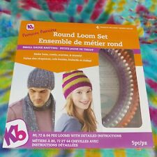 KB Knitting Board Set 'Premium' Round Loom Set KB8100 3/8 gauge looms Used Once!