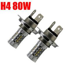 2X 80W H4 9003 HB2 CREE LED Fog Light Bulb hi/low Beam Headlight Motorcycle