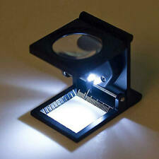 Foldable Scale Magnifier LED 10x Magnification for Optical Lens Magnifying NMO