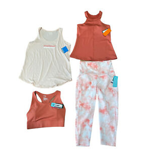 NWT Lot of Women's Athletic Workout Apparel Small Rust Orange Tie-Dye, Columbia